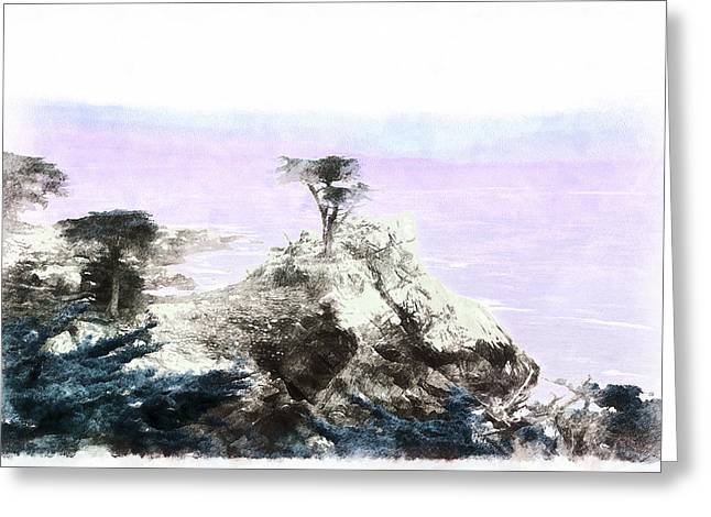 Lone Pine Pebble Beach Greeting Card