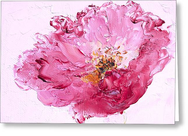 Lone Pink Poppy Greeting Card