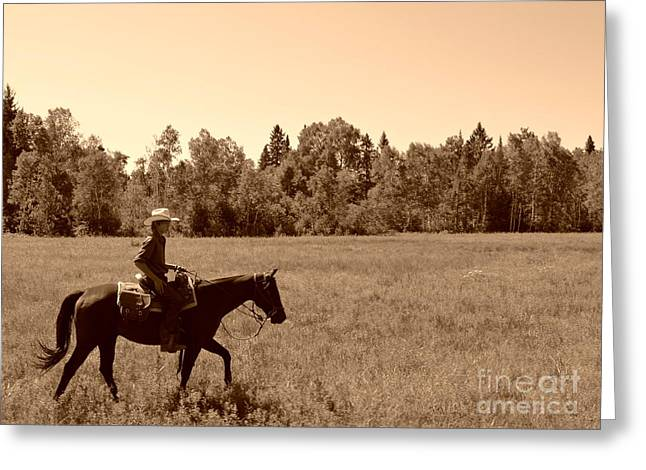 Greeting Card featuring the photograph Lone Ranger by Sarah Mullin