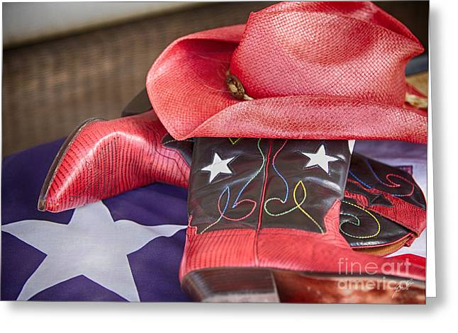Lone Star Gal 2 Greeting Card