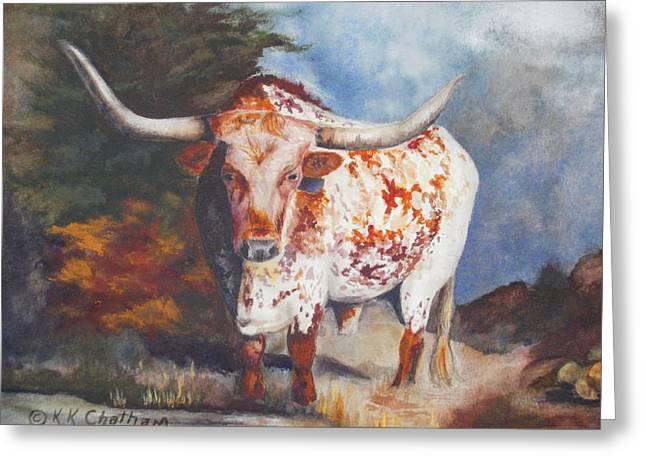 Lone Star Longhorn Greeting Card