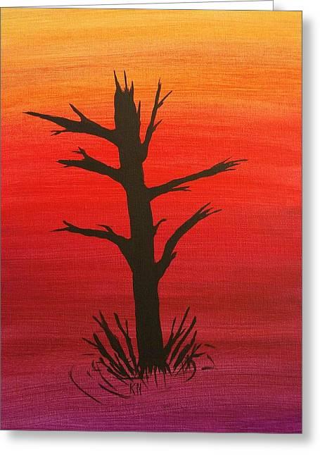 Lone Tree Greeting Card by Keith Nichols