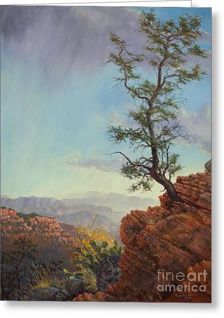 Lone Tree Struggle Greeting Card