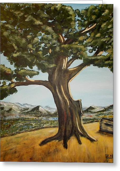 Greeting Card featuring the painting Lone Tree by Zeke Nord
