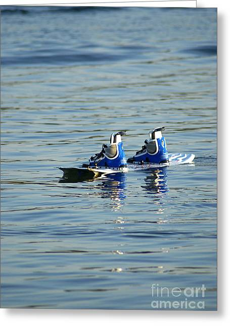 Lone Wakeboard Greeting Card