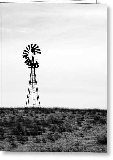 Greeting Card featuring the photograph Lone Windmill by Cathy Anderson