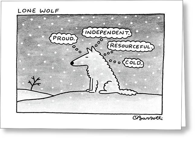 Lone Wolf: Greeting Card