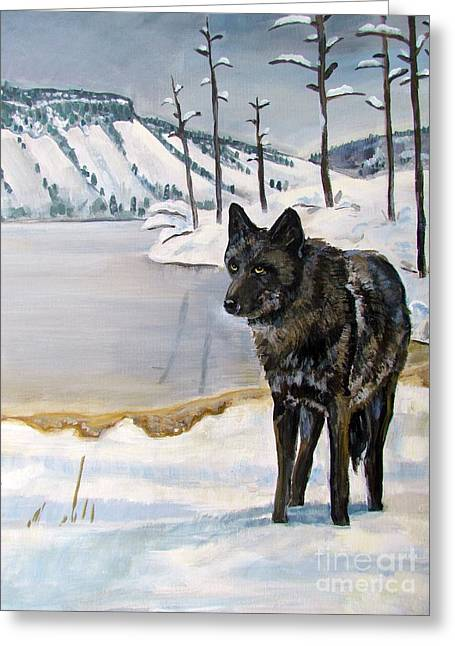 Lone Wolf Greeting Card by Harriet Peck Taylor