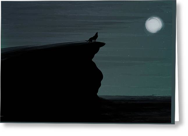 Lone Wolf Greeting Card by Tim Ford