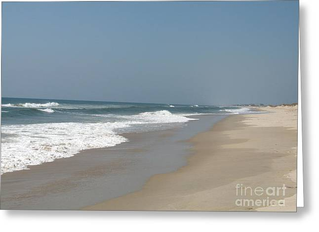Lonely Beach On Cape Hatteras Greeting Card by Christiane Schulze Art And Photography