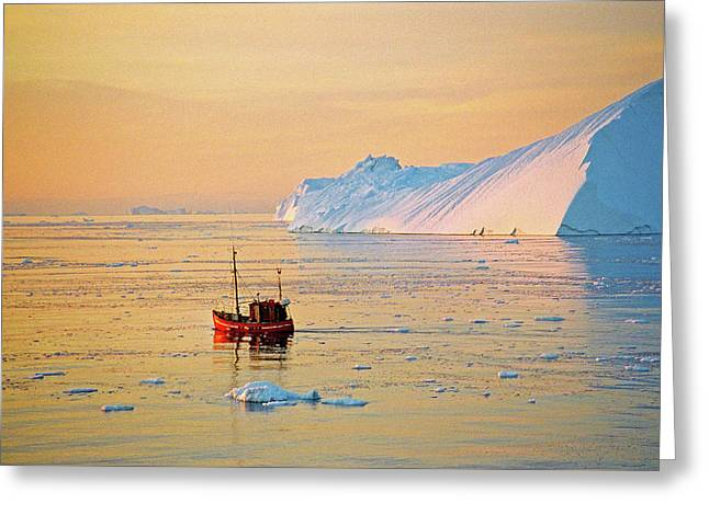 Lonely Boat - Greenland Greeting Card