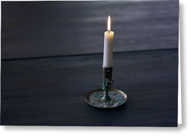 Lonely Candle Greeting Card
