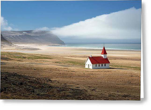 Lonely Church Greeting Card