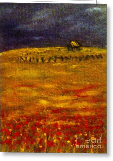 Lonely Farmhouse Greeting Card by C Fanous