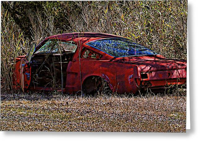 Greeting Card featuring the photograph Lonely Fastback by Victor Montgomery