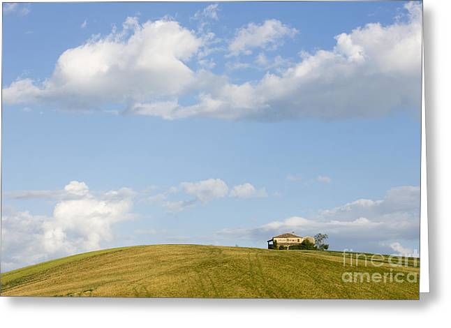 Lonely House Greeting Card by Maurizio Bacciarini