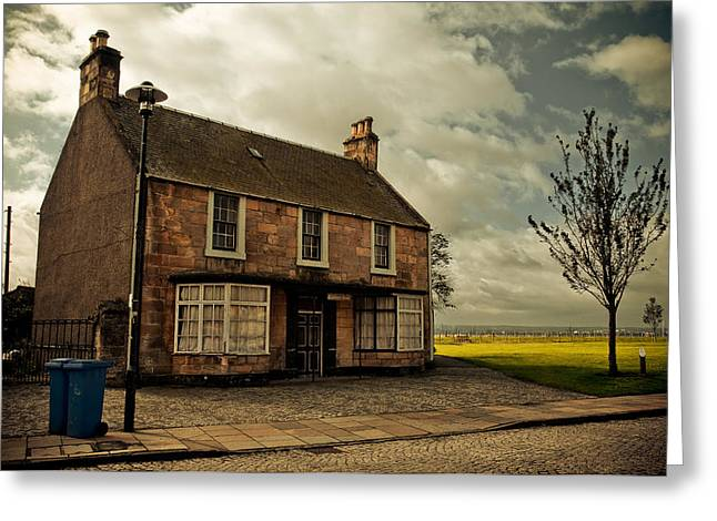 Lonely House On The Shore Of The River Forth. Culross Sketches. Scotland Greeting Card by Jenny Rainbow
