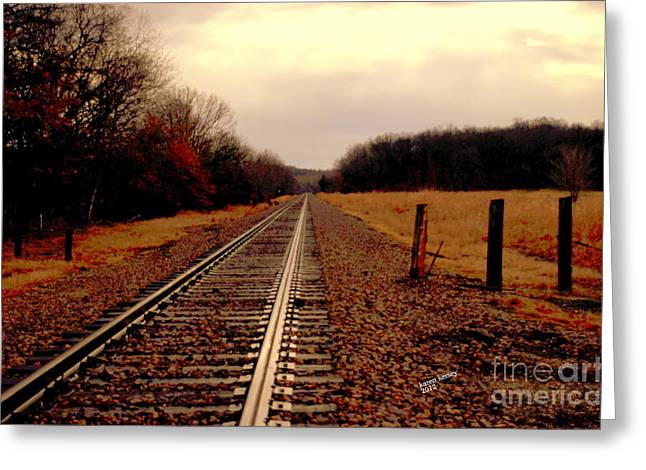 Lonely Journey Greeting Card by Karen Kersey