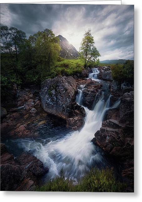 Lonely Mountain 3. Greeting Card by Juan Pablo De