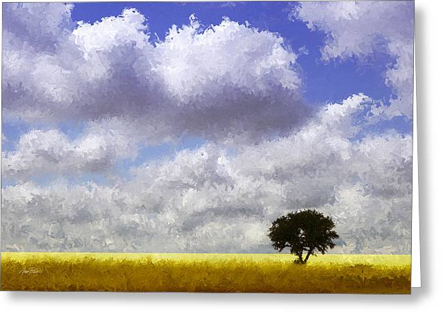 Lonely On The Prairie Greeting Card