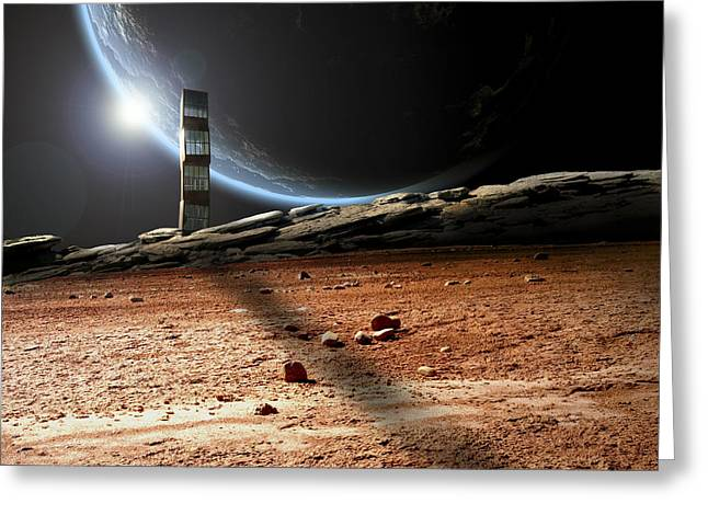 Lonely Outpost II Greeting Card