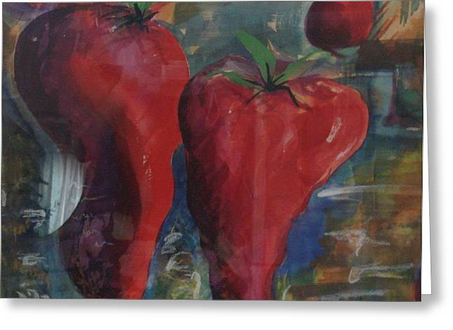 Lonely Peppers Greeting Card by Bianca Romani