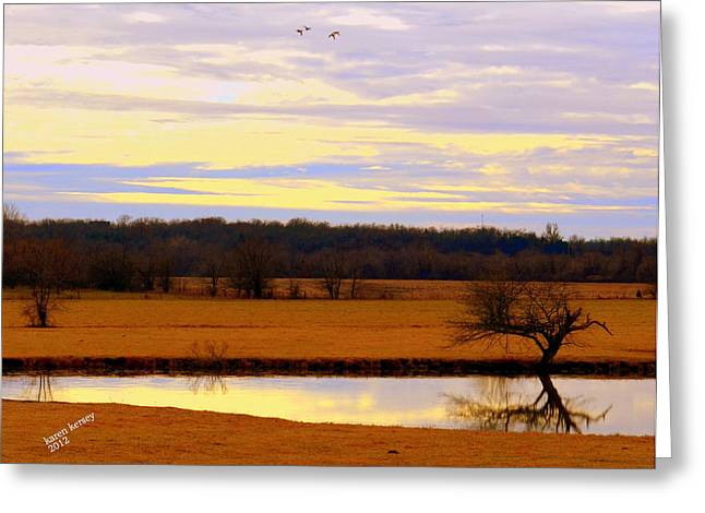 Lonely Pond Greeting Card by Karen Kersey