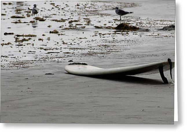 Greeting Card featuring the photograph Lonely Surfboard by Chris Thomas