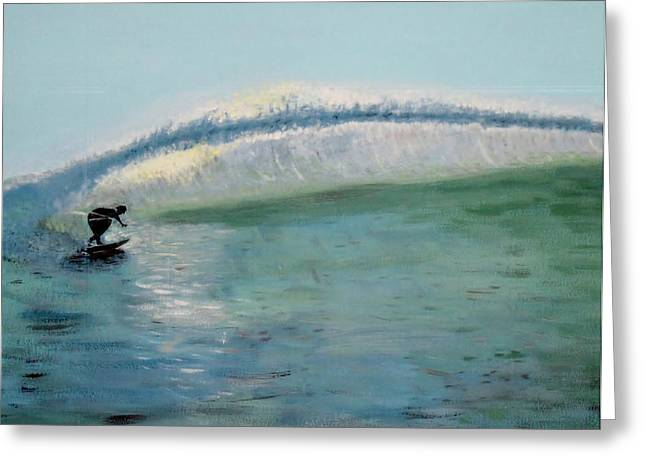 Lonely Surfer Greeting Card