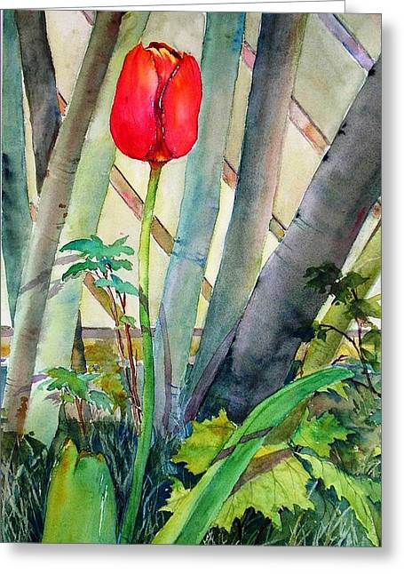 Lonely Tulip Greeting Card