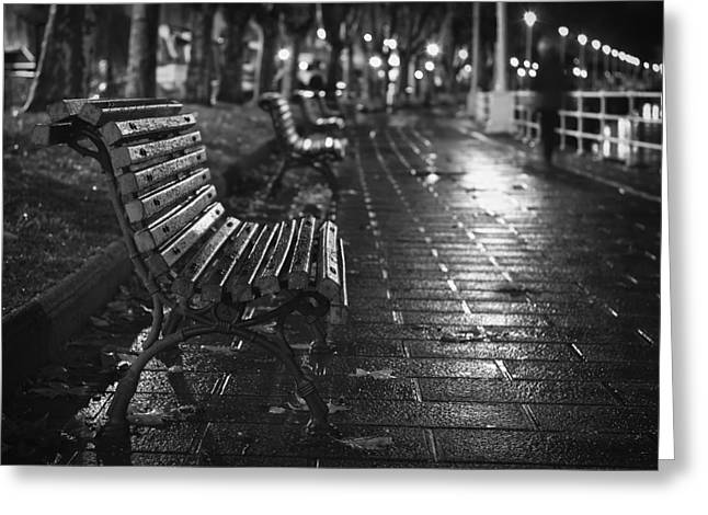 Lonely Under The Rain Greeting Card
