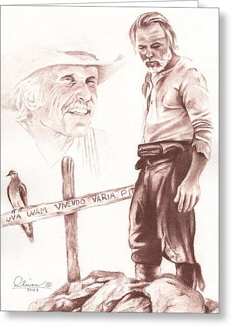 Lonesome Dove Gravesite Greeting Card by Bill Olivas