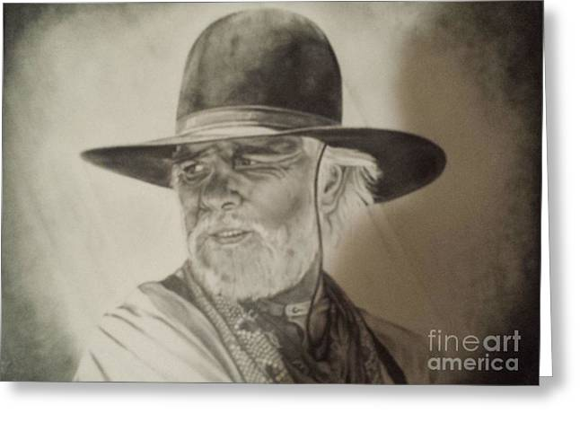 Lonesome Dove Look Greeting Card by Jeffrey McDonald