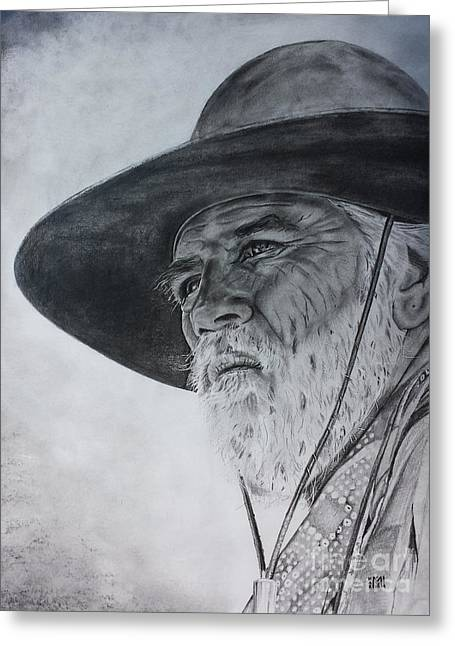 Lonesome Dove Stare Greeting Card by Jeffrey McDonald
