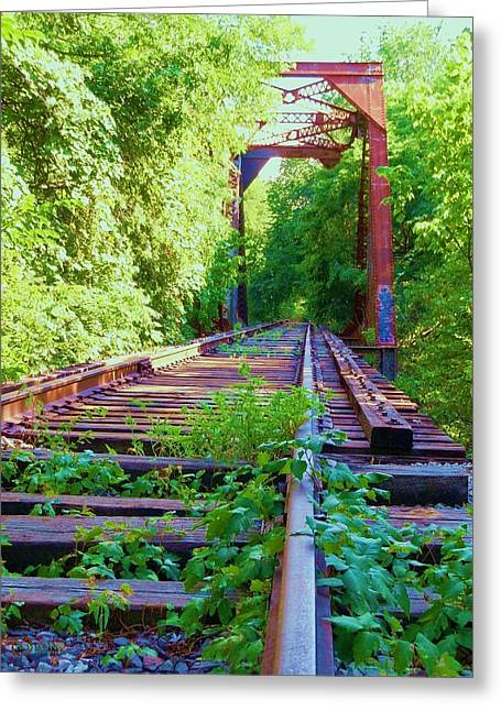 Lonesome Railroad #5 Greeting Card by Robert ONeil