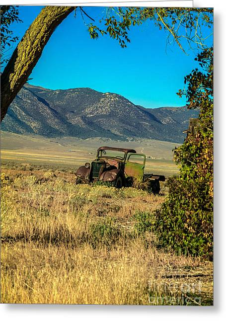 Lonesome Truck Greeting Card by Robert Bales