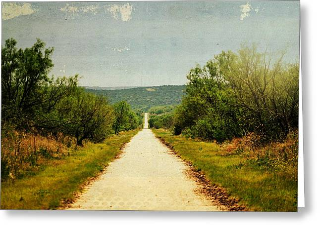 Long And Lonely Road Greeting Card by Mikki Cromer