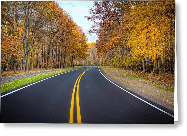 Long And Winding Road Greeting Card by Brent Durken