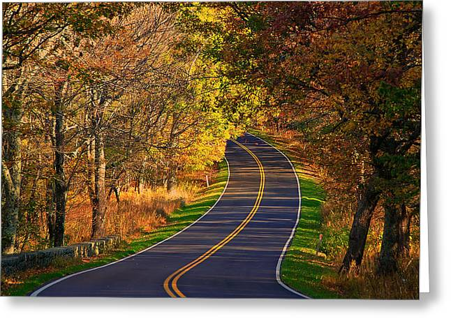 Long And Winding Road Greeting Card by Kathi Isserman