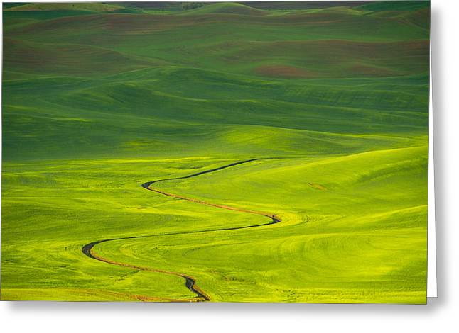 Long And Winding Road To Greeting Card