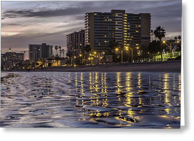 Long Beach Evening Greeting Card