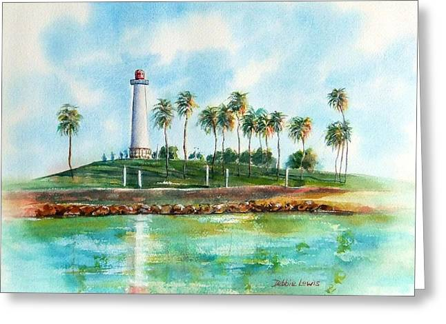 Long Beach Lighthouse  Version 2 Greeting Card
