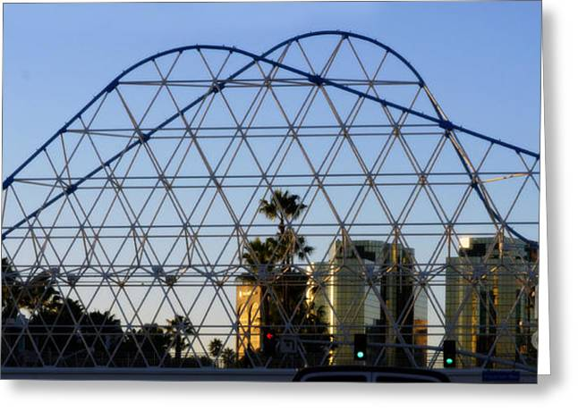Greeting Card featuring the photograph Long Beach Lines by Clayton Bruster