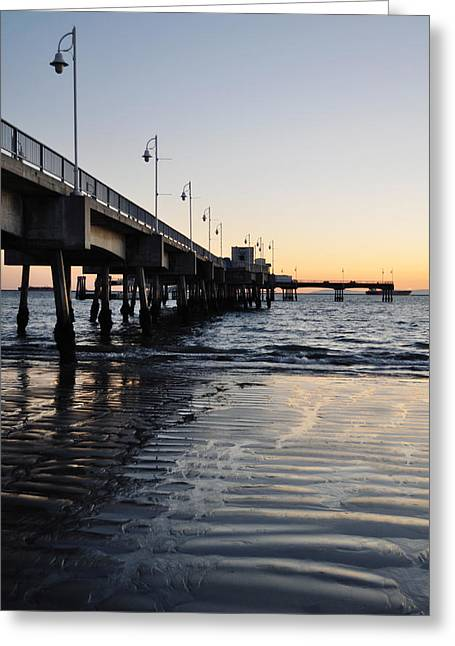 Greeting Card featuring the photograph Long Beach Pier by Kyle Hanson