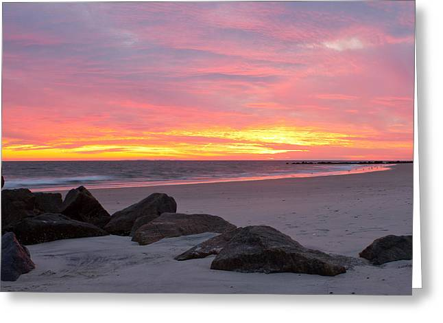 Greeting Card featuring the photograph Long Beach Sunset by Jose Oquendo