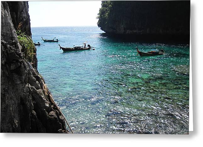 Long Boat Tour - Phi Phi Island - 0113109 Greeting Card
