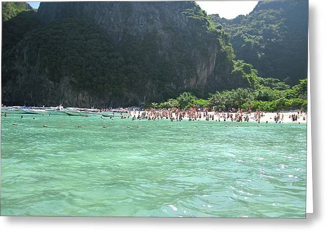 Long Boat Tour - Phi Phi Island - 0113118 Greeting Card by DC Photographer