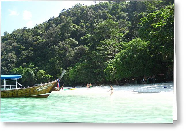 Long Boat Tour - Phi Phi Island - 0113170 Greeting Card by DC Photographer