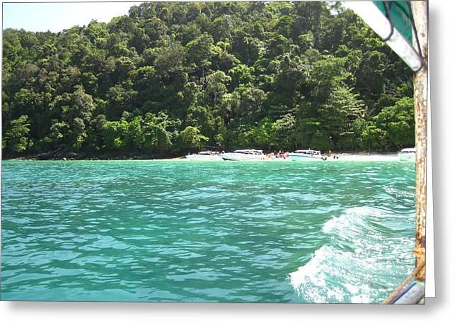 Long Boat Tour - Phi Phi Island - 0113181 Greeting Card