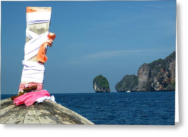 Long Boat Tour - Phi Phi Island - 0113182 Greeting Card by DC Photographer